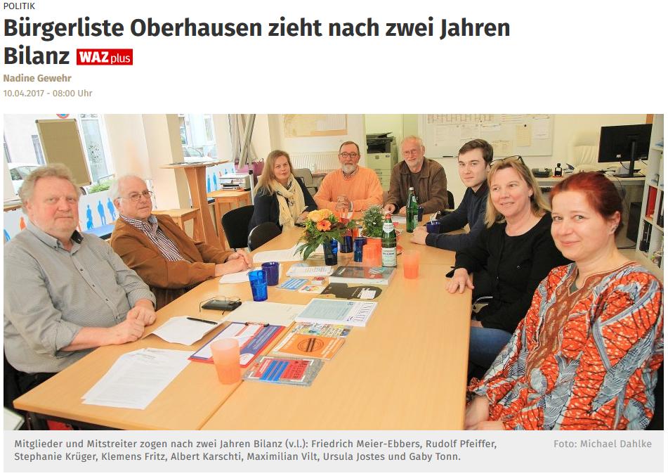 Meier-Ebbers Pressebericht WAZ Buergerliste
