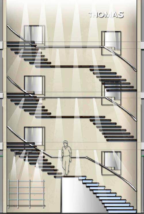 meier ebbers innenarch thomas m nchen treppe visualisierung meier ebbers architekten und. Black Bedroom Furniture Sets. Home Design Ideas