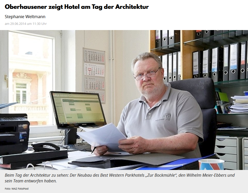 Meier-Ebbers Pressebericht WAZ Tag der Architektur
